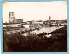 Finlande Vintage albumen print.  Tirage albuminé  10x12  Circa 1880  <di