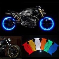 Fahrrad Auto Motorrad Rad Kante Reflektierendes Aufkleber Band Luminous Warnung