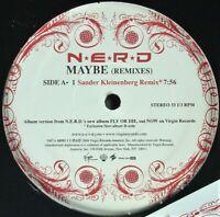 "N.E.R.D. ""MAYBE (REMIXES)"" 2004 VINYL 12"" PROMO 3 MIXES ~RARE~ HTF *SEALED*"