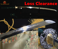 FOLDED STEEL CLAY TEMPERED JAPANESE SAMURAI SWORD KATANA HANDMADE SHARP