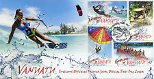 Vanuatu 2014 FDC Extreme in Vanuatu 4v Set Cover Sports Surfing