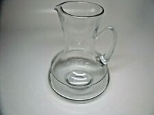 """Unique clear heavy glass genie flat bottom pitcher with handle 10"""""""
