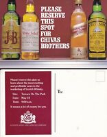 SAVE A SPOT FOR CHIVAS BROTHERS WHISKY ADVERTISING UNUSED COLOUR POSTCARD