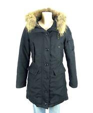 BLAUER USA Parka Mantel Jacke Fell Pelz Schwarz Gr. M 38