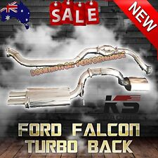 "Ford Falcon FG Exhaust - KS RACING 4"" Stainless Steel Turbo Back Exhaust"