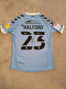 Southend United Signed Greg Halford Away Shirt 2020-21