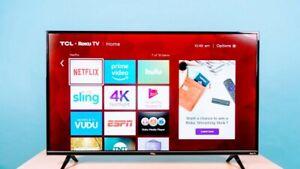 """32""""  TCL Class 4K UHD LED Roku Smart TV HDR.....(VERYNICE TV) !!!!!!!!"""