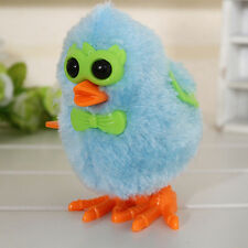 New ListingWind-up Jumping Cartoon Chicken Baby Children Plush Fluffy Clockwork Toys Dsld*