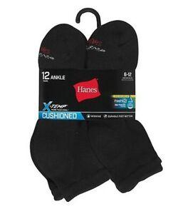 Hanes Men's FreshIQ® X-Temp® Active Cool® Ankle Socks 12-Pack AC1612