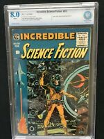 INCREDIBLE SCIENCE FICTION #33 CBCS 8.0 E.C. WHITE PAGES LAST ISSUE IN SERIES
