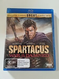 Spartacus War Of The Damned Blu ray Season 3 Liam McIntyre Free Post