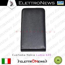 Custodia Cover Nokia lumia 620 verticale Modello Flip