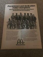 1977 MCDONALDS HIGH SCHOOL ALL-AMERICAN Poster Print Ad EARVIN MAGIC JOHNSON !!