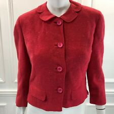 Vintage Frederick & Nelson Small Tweed Blazer Pink Cropped Retro 1950 Union Made