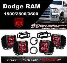 Rigid Radiance Pod Red 20202 & Fog Light Kit & Harness Fits 09-12 Ram 1500
