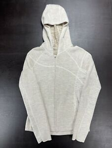 Mountain Hardwear Women's Size Medium Beige Full Zip Wool Knit Sweater Jacket