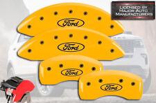"2013-2019 ""Ford"" Flex Front + Rear Yellow MGP Brake Disc Caliper Covers HD 4pc"