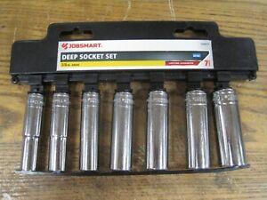Deep Socket set 3/8 In Drive 7pc. Jobsmart Brand New