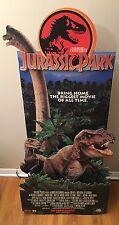 Vtg Jurassic Park Movie Display Cardboard Standee 3D Dinosaurs VHS Promo