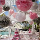 "1/5/10X Lantern Flower Balls 8""/10"" Home Hanging Tissue Paper Pom Wedding Party"