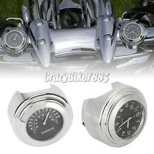 7/8''-1'' Handlebar Clock Thermometer For Kawasaki Vulcan VN 900 1500 1600 1700