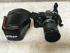 Nikon Fg 35mm Slr Film Camera w/ Case, Nikkor 35-105mm lens, and filter