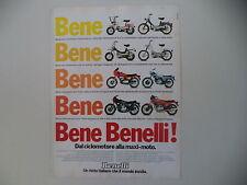 advertising Pubblicità 1979 BENELLI MOTORELLA/G-2/125 SPORT/354/900 SEI