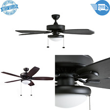 52 in Blufton Quiet Reversible Ceiling Fan Outdoor Porch with Led Lights, Bronze