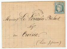 France cover 1872 La Flotte en Ré to Le Croisic - Fresh