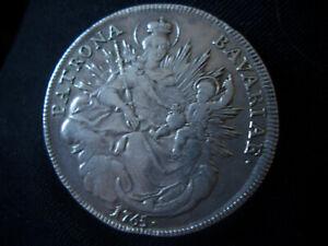 SILVER BAVARIAN LARGE  GERMAN THARLER  COIN  DATED 1765 fresh to market find