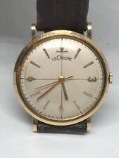 Vintage LeCoultre 14k Solid Yellow Gold 17J Manuel Wind 32mm Wrist Watch