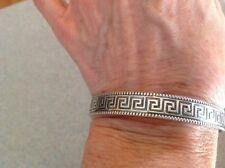 Danecraft Sterling Silver Greek Key Design Bangle Bracelet