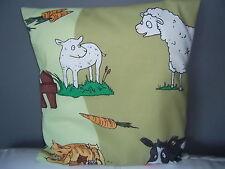 Kissenhülle Bauernhof Impressionen*40x40 cm* Schaf Gans Schwein Katze Kuh Huhn
