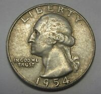 1954-S Washington Silver Quarter Grading in the VF Range  DUTCH AUCTION