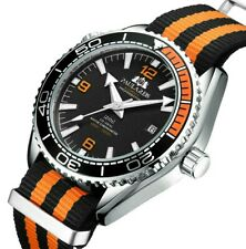 PAULAREIS PLANET OCEAN SEAMASTER HOMAGE AUTOMATIC WATCH NATO CANVAS STRAP