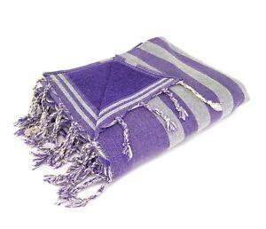 Extra Large 100%Turkish Cotton Beach Bath Pool Gym Spa Towel 72''X39'' PURPLE