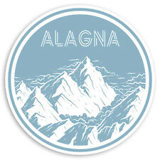 2 x 10cm Alagna Vinyl Stickers - Italy Mountain Travel Sticker Luggage #20309
