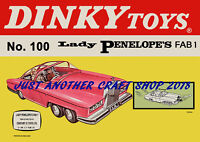Dinky 100 Thunderbirds Lady Penelope Fab 1 1967 Poster Advert Shop Sign Leaflet