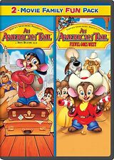 An American Tail 1 & 2 One & Two: Fievel Goes West (DVD, 2014) - NEW!!
