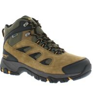 Hi-Tec Logan Mid Waterproof Boots for Men - Bone/Brown/Mustard