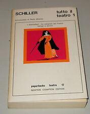 Schiller teatro 1 I masnadieri La congiura del Fiesco Intrigo e amore 1à ed 197