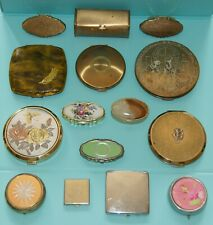 Job Lot Vintage Compacts Lipstick Holders Pill Boxes Ashtray - Stratton Yardley