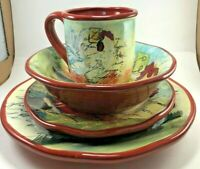 Susan Winget International Le Rooster 4 pc Place Setting Farmhouse (8) Available