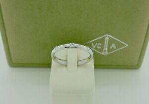 Van Cleef & Arpels Tendrement Etoiles Diamond Platinum Wedding Band Ring 50
