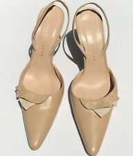 Richard Tyler High Hell Sling Back Tan Shoes Size 8 1/2