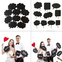 10pcs Photo Booth Prop DIY Bubble Speech Chalk Board Wedding Party Photography