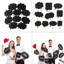 10pcs Photo Booth Prop DIY Bubble Speech Chalk Board Wedding Party Photography