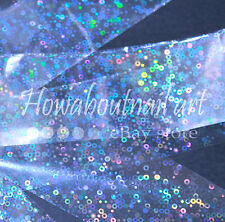 """Spangles on clear"" transfer nail foil 1 meter"