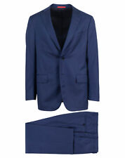 NWT ISAIA Blue Striped Wool 2 Button Suit Size 50/40 R Drop 8 $3795