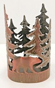 BATH & BODY WORKS COPPER BEAR IN THE FOREST SOAP HOLDER FOR GF AND DC SOAPS NEW!